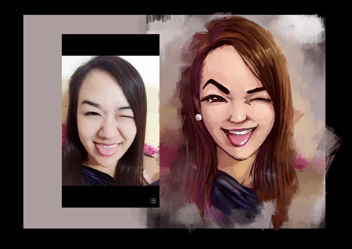 あなたの写真を元に似顔絵を描きます