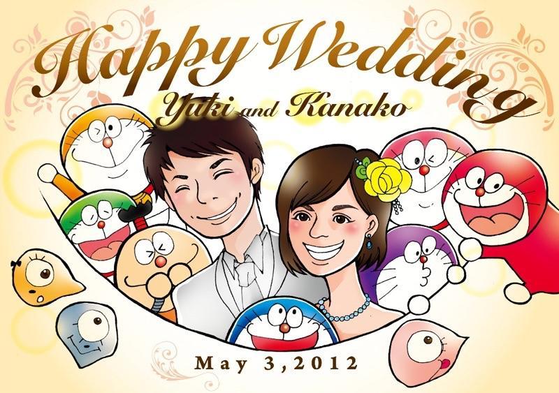 結婚式のウェルカムボードなど、似顔絵描きます!
