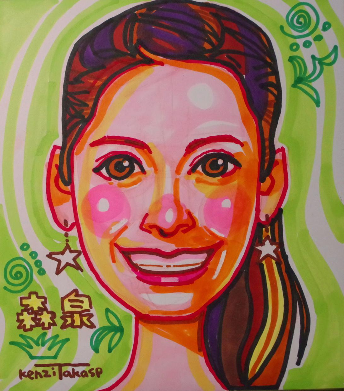 ご希望の似顔絵を、写真から手描き似顔絵で描きます 名詞用、記念日用、プレゼント用、披露宴ウエルカムボード似顔絵