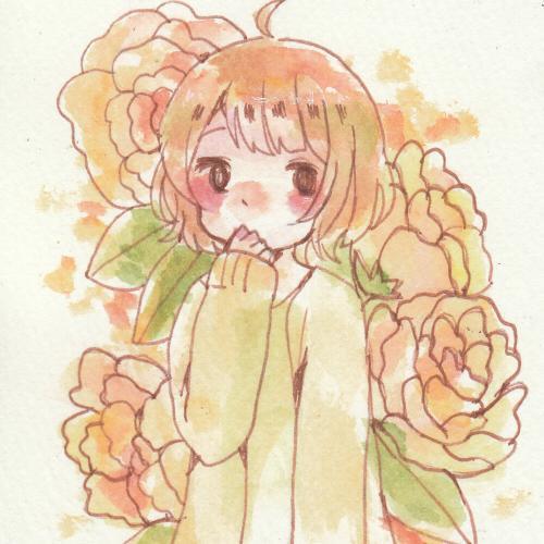 あなたの好きなお花を添えたイラストを描きます 他とは違う、好きなお花とイラストのコラボレーションです!