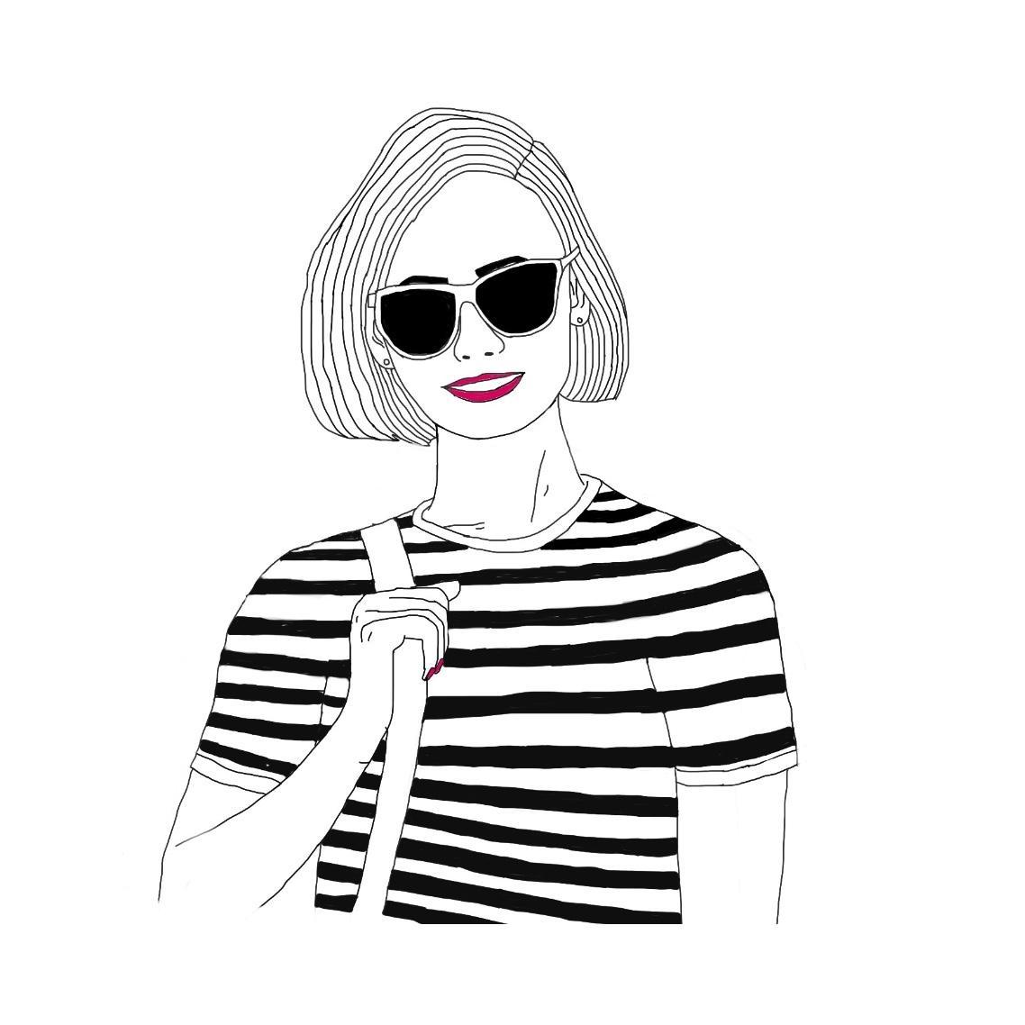 シンプルでオシャレな似顔絵イラスト描きます アイコンや名刺にお使い下さい商用利用はご相談