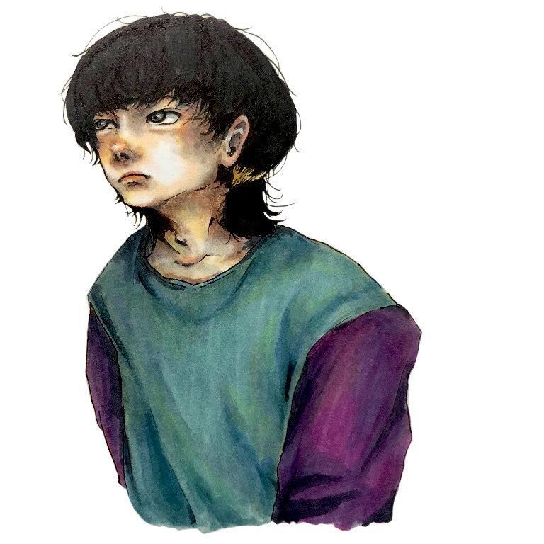 イラストアイコン描きます コピックなどで儚い絵を描きます。