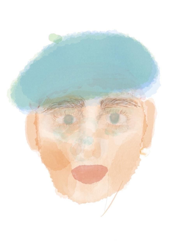 お洒落な似顔絵を作成します 水彩画風でお洒落な似顔絵を作成させていただきます。