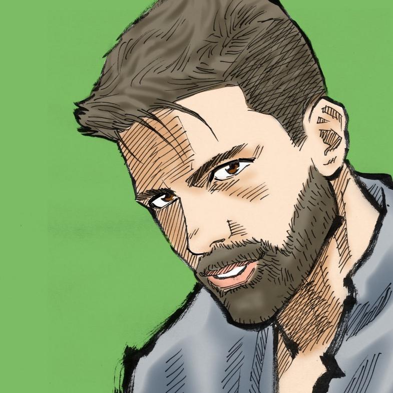 青年漫画風の似顔絵をお描きします 男性に特におすすめ。力強いタッチで他の人と差別化しませんか?
