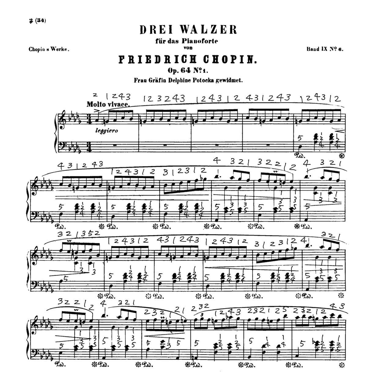 ピアノ曲の指使い(指番号)を書きます 音楽大学を卒業したピアニストによる譜読みサポート イメージ1