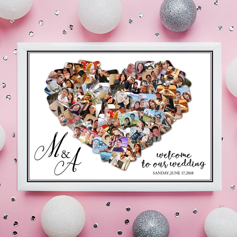 結婚式やプレゼントに!写真をハート形にします 結婚式だけでなく、新居の玄関や旅の思い出にも♡