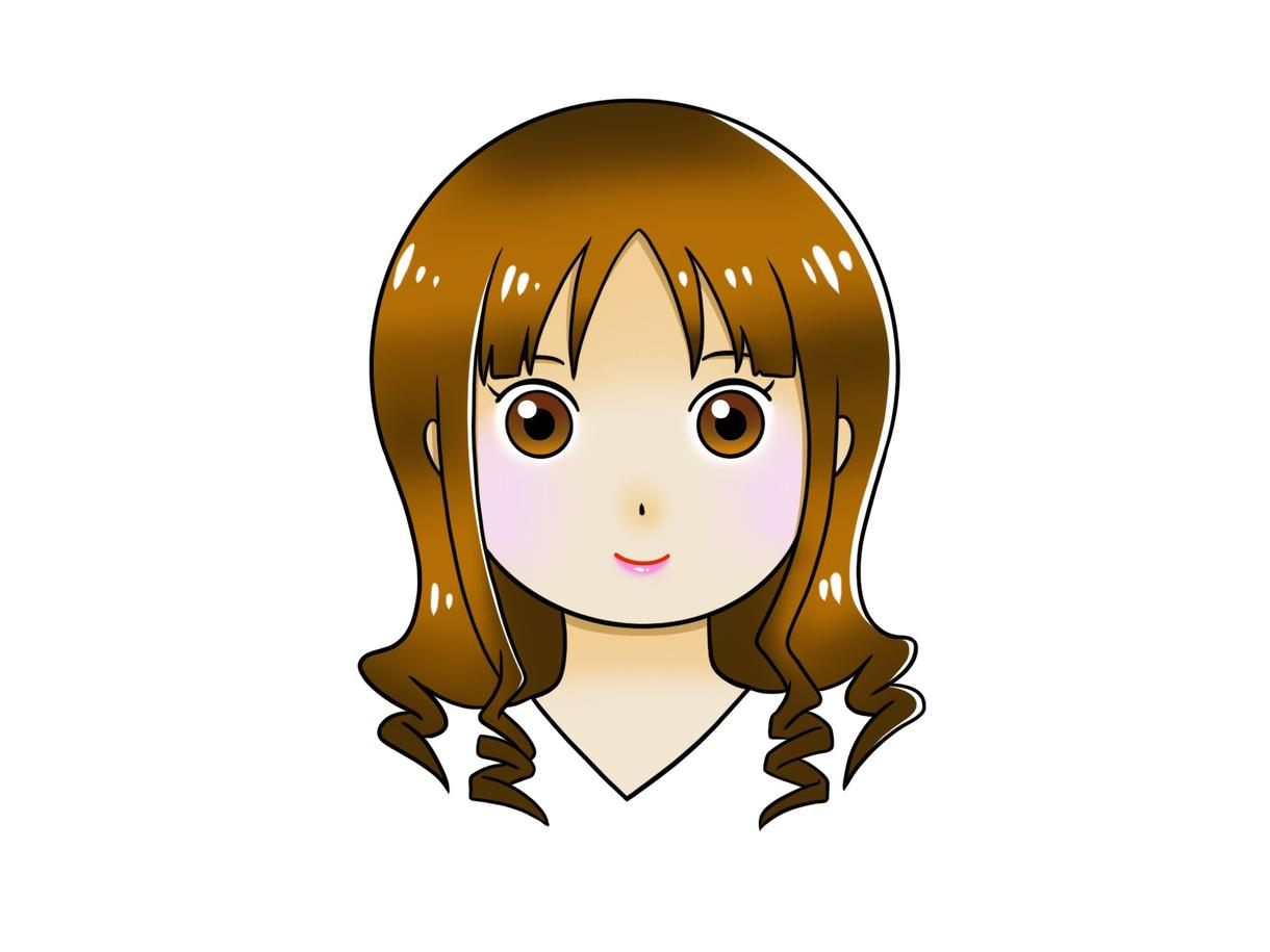 シンプルで可愛い、女の子のアイコン描きます SNSアイコンなどにいかがですか? イメージ1