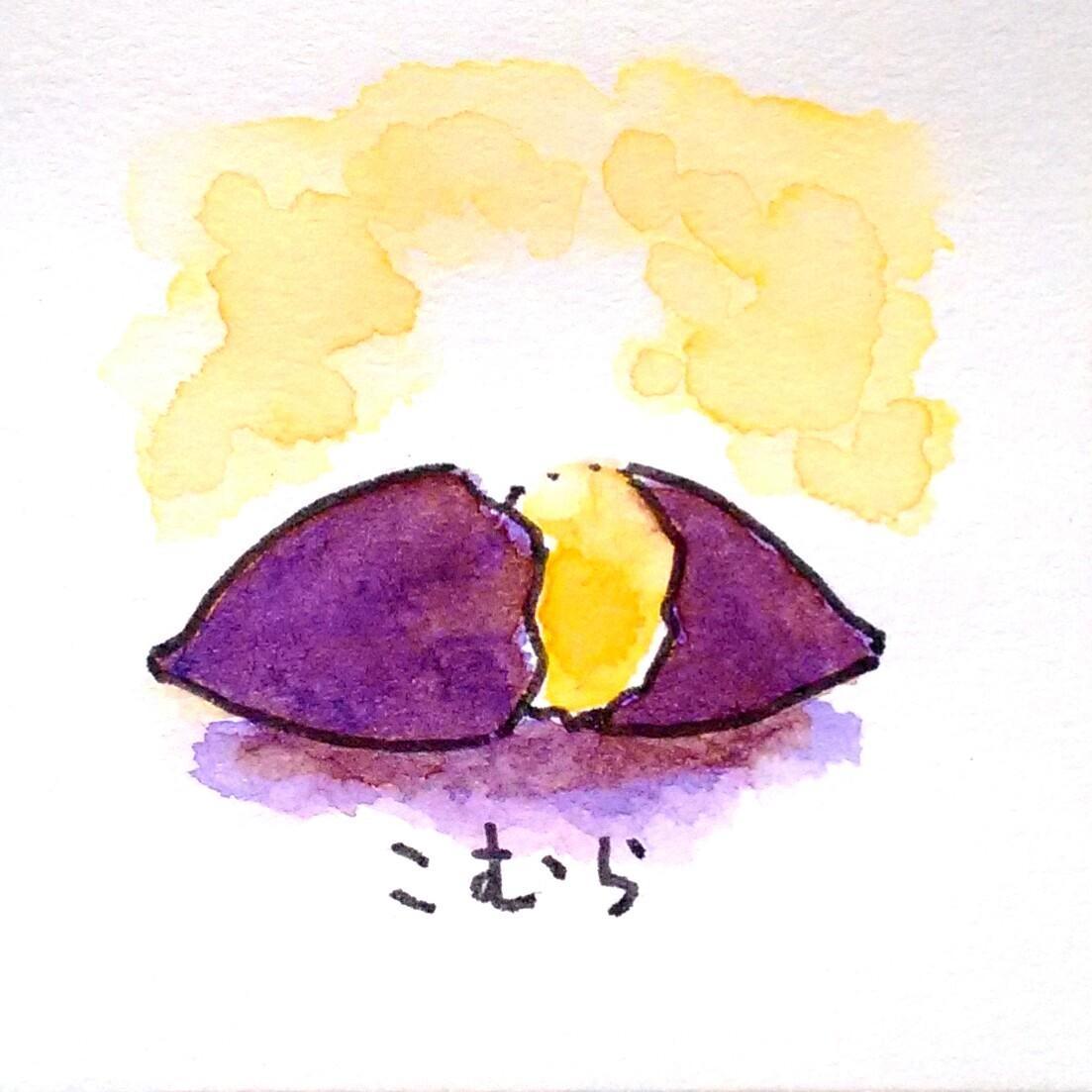 水彩でイラストを描きます お部屋にちんまりした癒やしのイラストを。 イメージ1