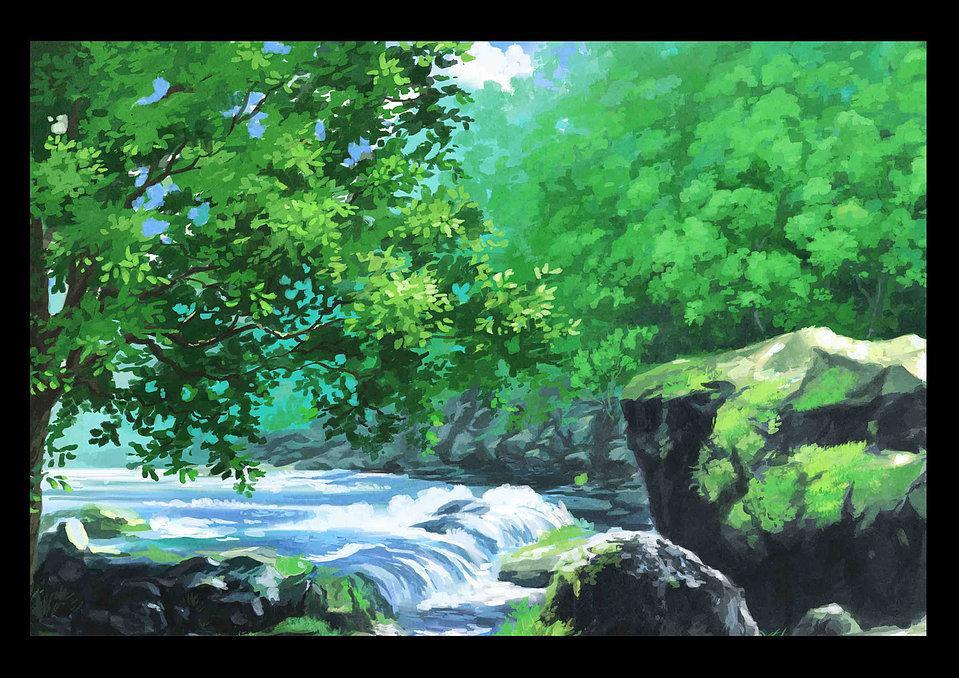 ゲームの背景画製作をします ゲーム、アニメ背景制作のプロが作成