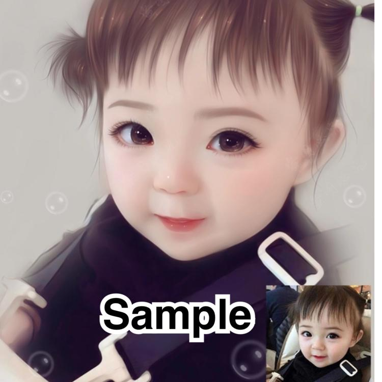 ふわふわで可愛い似顔絵を描きます 完成度が高いので記念やプレゼントに最適です♪