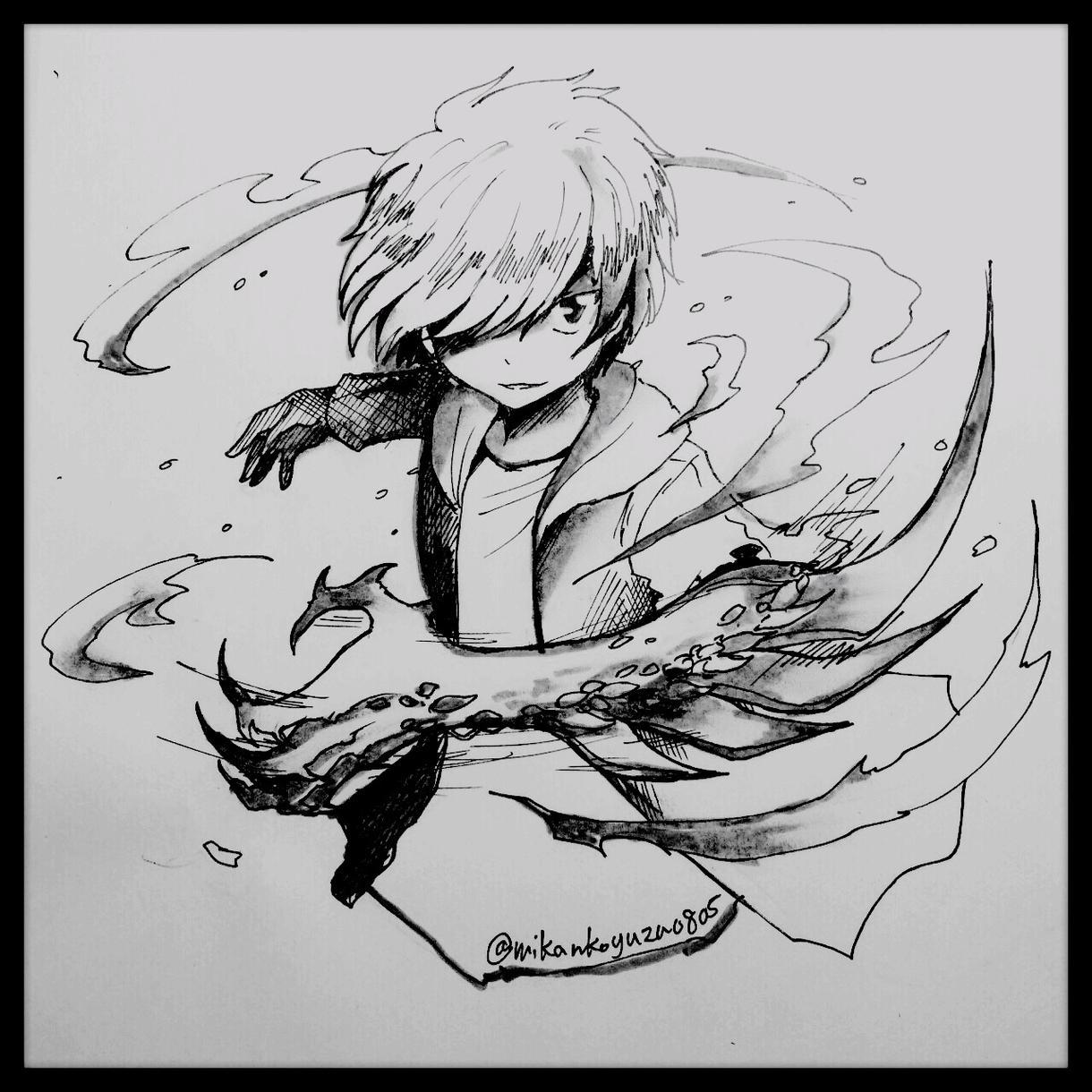 白黒の挿絵を描きます!