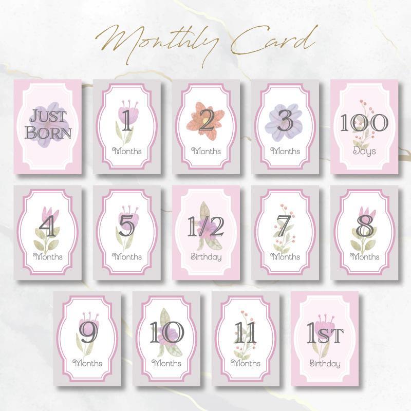月齢カード マンスリーカード販売致します おしゃれな月齢カードと一緒に写真を撮りませんか♡ イメージ1
