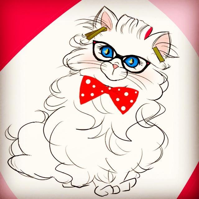 猫ちゃんのイラスト描きます 記念日やちょっとしたプレゼントに如何でしょうか?