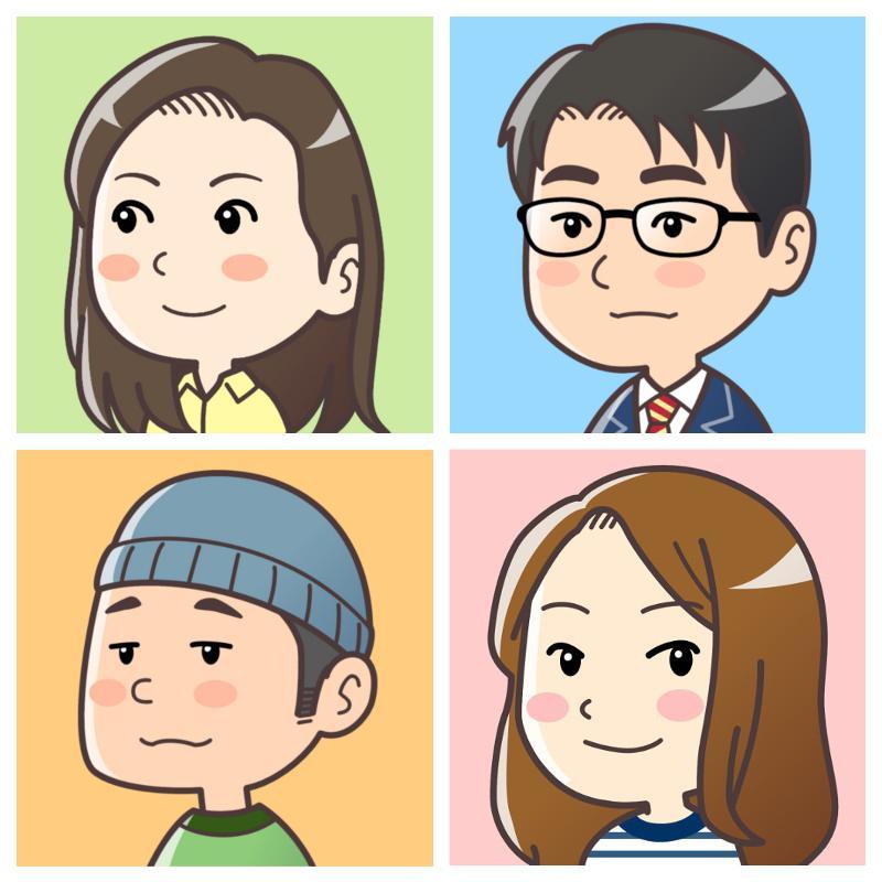 シンプルでかわいい似顔絵描きます SNSアイコンや名刺等、様々な用途でご使用いただけます イメージ1
