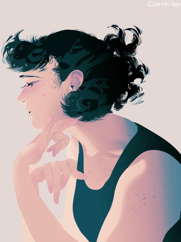 アンニュイで印象的な人物イラスト描きます 繊細な感情表現、憂いのある人物像が欲しい方へ。 イメージ1
