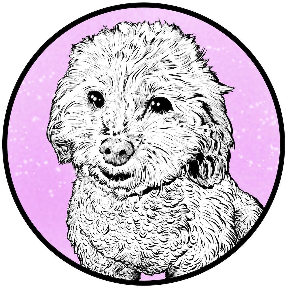 ペットさんをモチーフにしたアイコンお描きします SNS、名刺、ショップカードに最適!飾ってインテリアにも。
