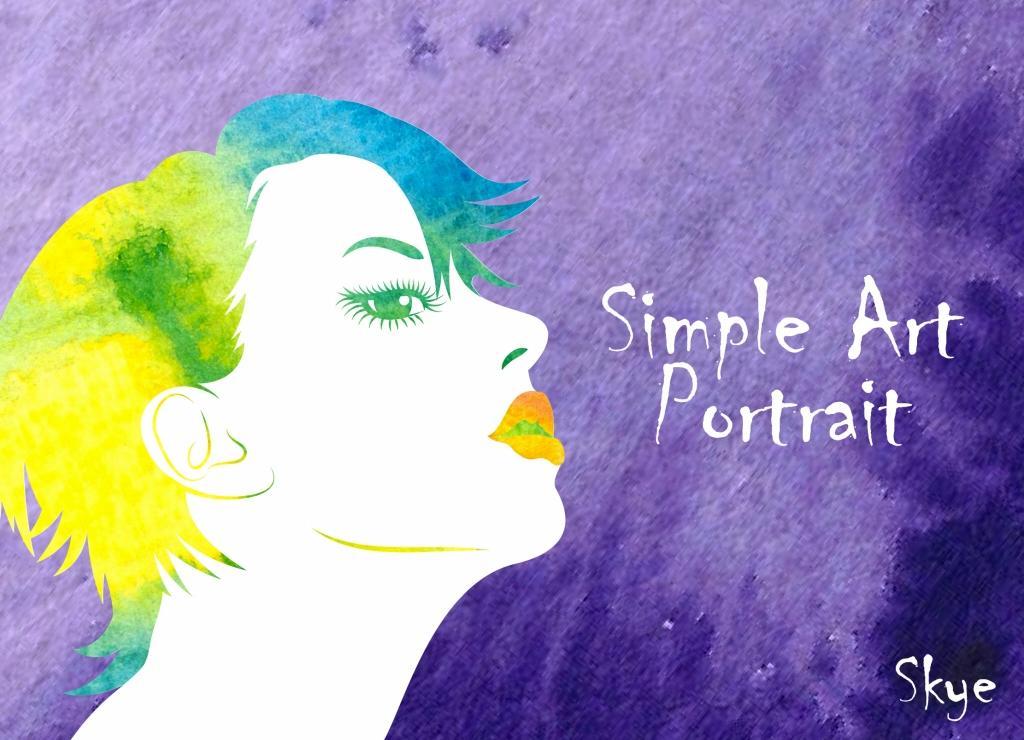 新デザイン「しんぷるあーとな似顔絵」を承ります 写真を元に水彩絵の具を使ったアートなしんぷるかわいい似顔絵。