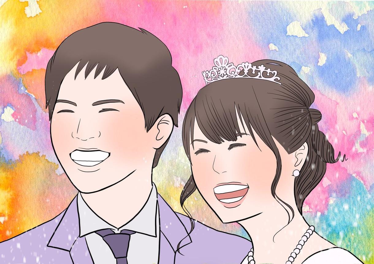 あなたの似顔絵おかきお描きします 家族や恋人・友達・自分へのプレゼントに似顔絵はいかがですか? イメージ1