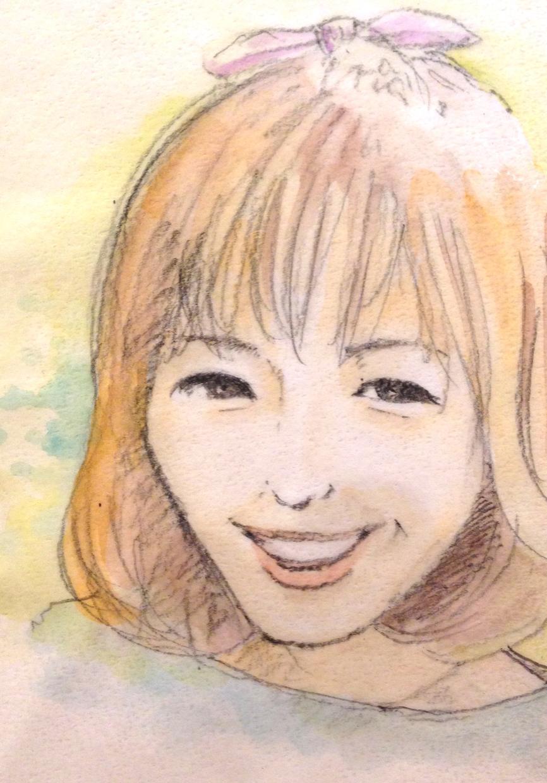 色鉛筆で似顔絵描きます さりげなくお部屋に飾りたい方。プレゼントにどうですか?