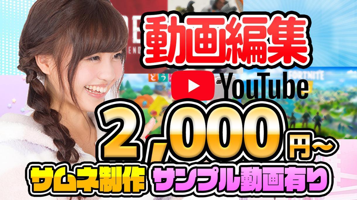 最安2.000円!Youtube動画編集代行します カット文字入れBGM効果音込みでこの価格! イメージ1