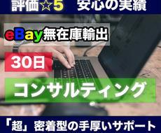 ebay輸出、1ヶ月コンサルします 他にはない「超密着型」コンサルでしっかりサポート♪