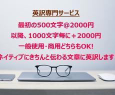 日500文字を2000円で英訳します AUS在住歴21年、現役ビジネス翻訳者が自然な英語へ翻訳!