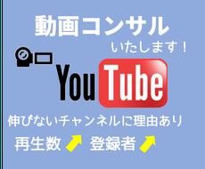 YouTube動画のコンサルティングいたします 再生数が上がらないチャンネル登録者が伸びないとお悩みの方に