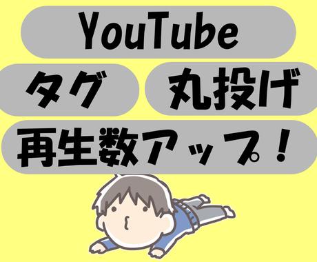 YouTubeで検索されやすくなるタグ教えます 効果的なタグで視聴回数を増やします!コピペするだけでOK! イメージ1