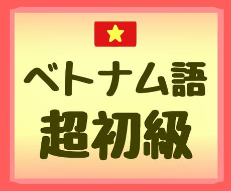 超初級ベトナム語のオンラインレッスンします 発音が難しいベトナム語での挨拶ができるようになります★ イメージ1