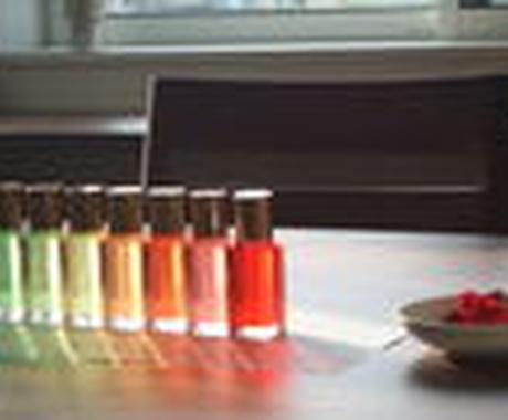 あなたの選んだ色は、あなたのココロを表します キレイなカラーボトルを通じて、あなたのココロの声を聴きます イメージ1