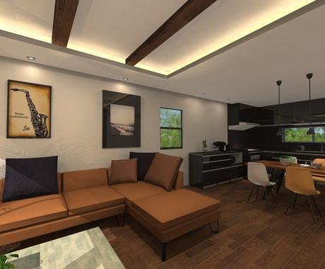 インテリアパースでお部屋作りの相談承ります 家具、照明、クロスなどインテリア提案をパースで可視化します イメージ1