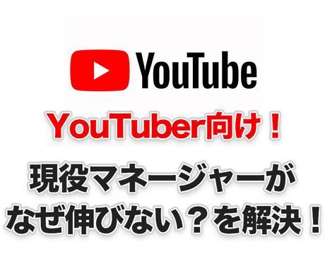なぜ伸びない?YouTuber向け問題を解決します 現役YouTuberマネージャーが対応します イメージ1