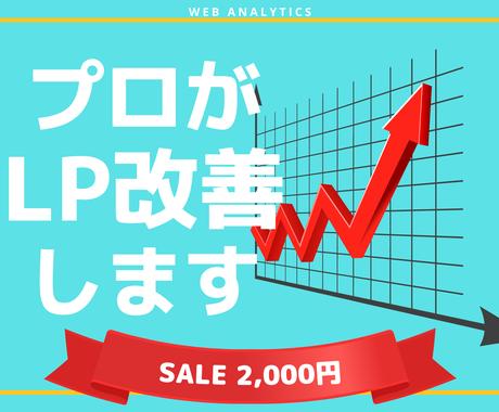 Web広告効果を高める、LPの改善方法を教えます 広告代理店のアクセス解析の専門家が何でも答えます イメージ1
