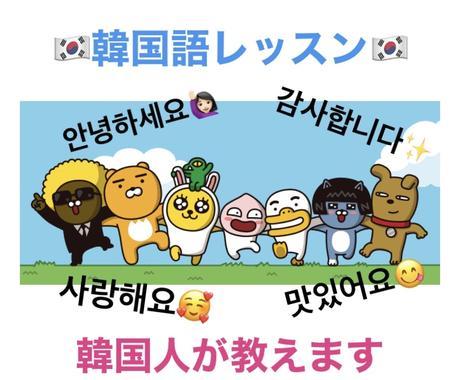 初心者向け韓国語レッスン一から教えます 読む,聞く,書く,話す 初級〜上級 ニーズに合わせてレッスン イメージ1