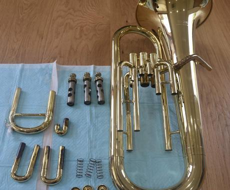 音楽教室講師が画面上で一緒に金管楽器を洗います 初心者向け。金管楽器を洗いたいけど、やったことがない方 イメージ1
