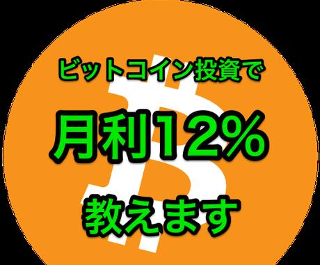 初期設定のみ!仮想通貨での月利12%投資公開します 【マスター1】の実績でサポートいたします♪ イメージ1
