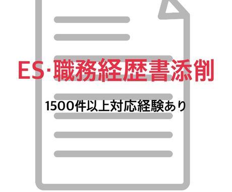 職務経歴書/ES添削(新卒・中途双方可)します 現役人事・転職支援経験者/1500件以上の添削経験あり イメージ1