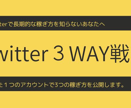 Twitterパーフェクトマネタイズを公開します たった1アカウントで【ショート・継続・ストック】報酬の稼ぎ方 イメージ1