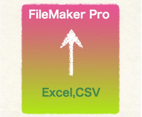 FileMakerに乗り換え!データ取り込みます Excelではもう限界!な方へ、データベースにして楽々管理! イメージ1