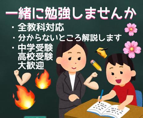中学受験の勉強教えます 中学受験経験者が中学受験の勉強を教えます! イメージ1