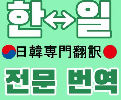 韓国⇔日本 翻訳致します 文章の翻訳、文字起こし...等々 イメージ1
