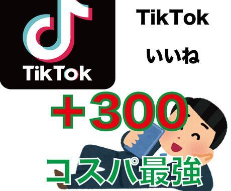 TikTokのいいね増加のお手伝いをします 300〜5000いいねお手伝いをします イメージ1