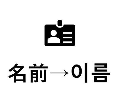あなたの日本語の名前を元に韓国名を作ります 韓国人に自己紹介するときにパンチを利かせたい方必見! イメージ1