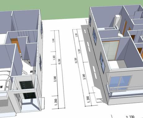 図面から3D模型作成します あなたの住宅、店舗のデジタル模型を作成します! イメージ1