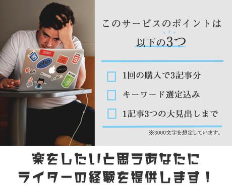 ブログ作成にお困りの方!見出しとタイトル考えます 現役webライターがSEOを意識してKW込みでご提案! イメージ1