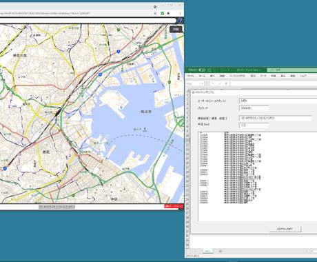 地図から付近の住所、郵便番号を割り出して表示します リバースジオコーディング、逆ジオ、API使わず自力で逆ジオ イメージ1