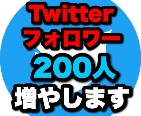 Twitterで集客 フォロワー200人増やします Twitter集客・アクティブ日本人フォロワー・宣伝・拡散 イメージ1