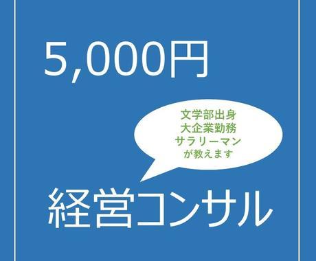経営・資金繰りの基本的な考え方を教えます 【事前相談OK】5,000円の経営コンサル(期間2週間) イメージ1