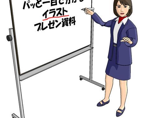 一目で伝わる、イラストで表現するプレゼン。Powerpoint文書作成します。 イメージ1