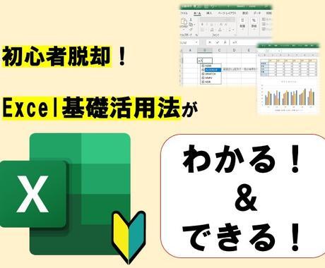 初心者脱却!【Excel基礎活用法】教えます 脱初心者のためのExcel基礎活用法を凝縮しました! イメージ1